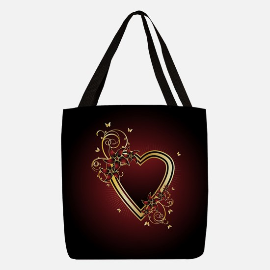 Classic Heart Polyester Tote Bag