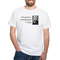 Ralph Waldo Emerson 14 White T-Shirt