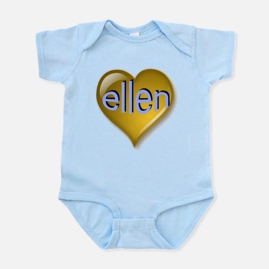 Love ellen Golden Heart Infant Bodysuit