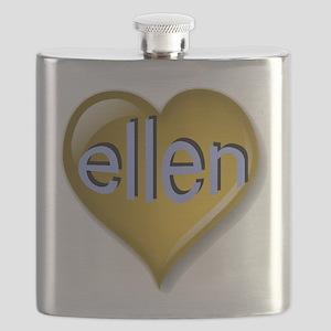 Love ellen Golden Heart Flask