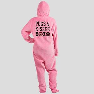 Pugs & Kisses Xoxo Stacked Footed Pajamas