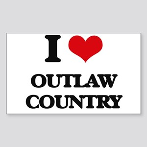 I Love OUTLAW COUNTRY Sticker