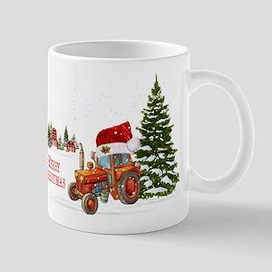 Christmas on the Farm Tractor Mugs