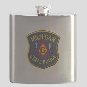 Michigan State Police Mason Flask