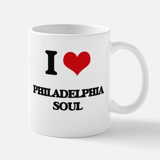 I Love PHILADELPHIA SOUL Mugs