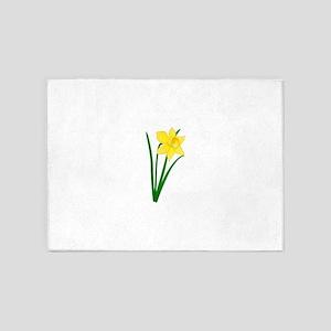 Yellow Daffodil 5'x7'Area Rug
