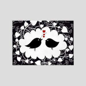 Love Bird's Song 5'x7'Area Rug