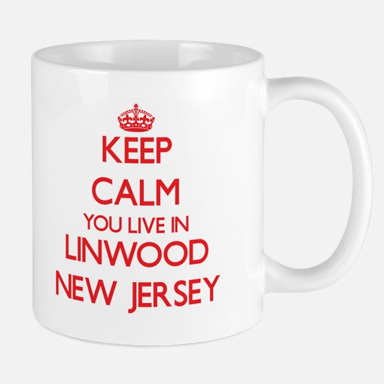 Keep calm you live in Linwood New Jersey Mugs