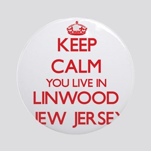 Keep calm you live in Linwood New Ornament (Round)