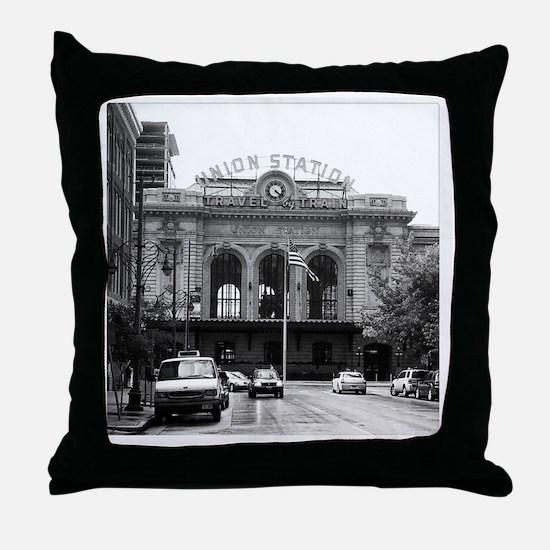 Union Street in the Rain Throw Pillow