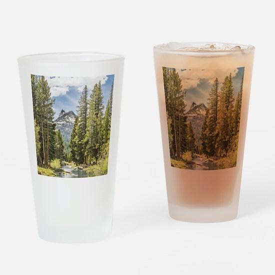 Mountain River Scene Drinking Glass