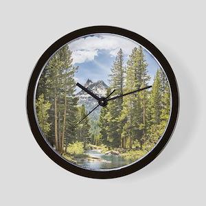 Mountain River Scene Wall Clock