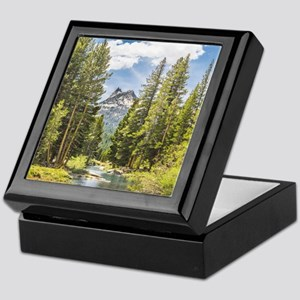 Mountain River Scene Keepsake Box
