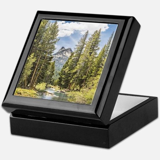 Mountain River Scene Keepsake Box