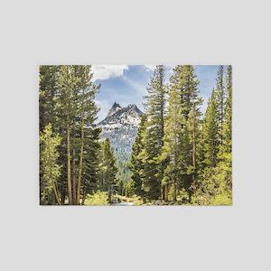 Mountain River Scene 5'x7'Area Rug