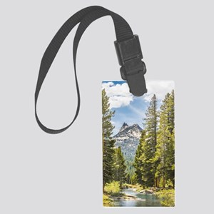 Mountain River Scene Large Luggage Tag