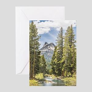 Mountain River Scene Greeting Card