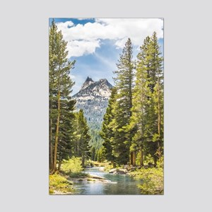 Mountain River Scene Mini Poster Print