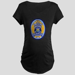 Alaska State Troopers Maternity Dark T-Shirt