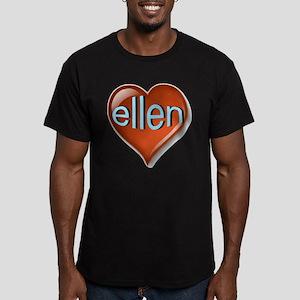ellen Heart Men's Fitted T-Shirt (dark)