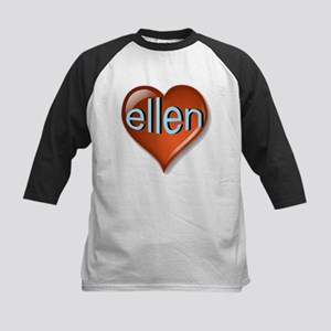 ellen Heart Kids Baseball Jersey