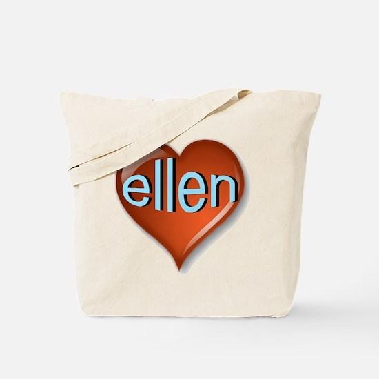 ellen Heart Tote Bag