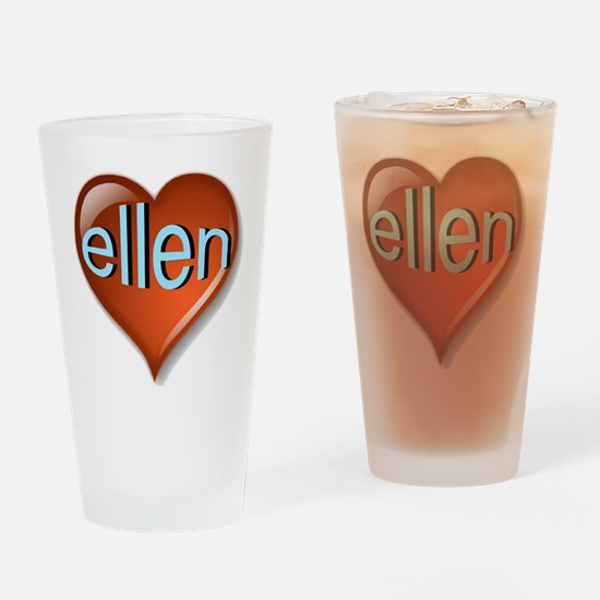 ellen Heart Drinking Glass