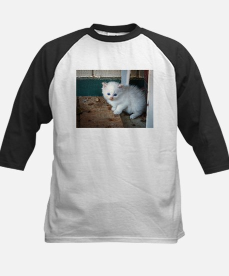 White Kitten Baseball Jersey