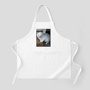 White Kitten Light Apron