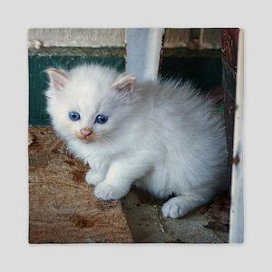 White Kitten Queen Duvet