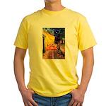 Cafe & Rottweiler Yellow T-Shirt