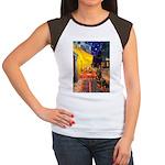 Cafe & Rottweiler Women's Cap Sleeve T-Shirt