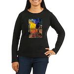 Cafe & Rottweiler Women's Long Sleeve Dark T-Shirt