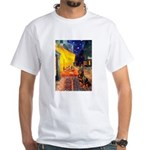 Cafe & Rottweiler White T-Shirt