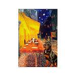 Cafe & Rottweiler Rectangle Magnet (10 pack)