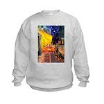 Cafe & Rottweiler Kids Sweatshirt