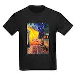 Cafe & Rottweiler Kids Dark T-Shirt