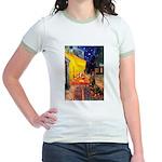Cafe & Rottweiler Jr. Ringer T-Shirt