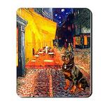 Cafe & Rottweiler Mousepad