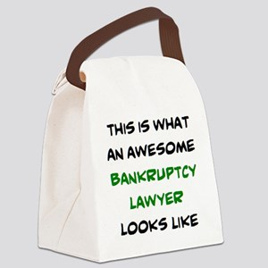 awesome bankruptcy lawyer Canvas Lunch Bag