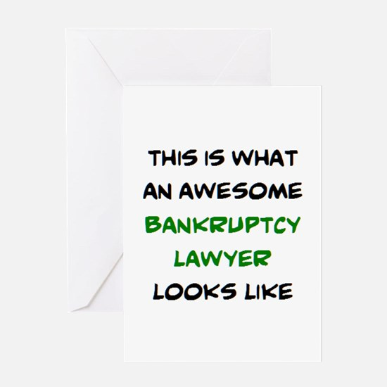 awesome bankruptcy lawyer Greeting Card