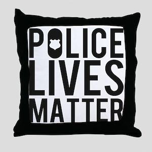 Police Lives Matter Throw Pillow