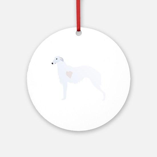 Borzoi Breed Design Ornament (Round)