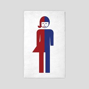 Ladyboy / Tomboy Toilet Thai Sign Area Rug