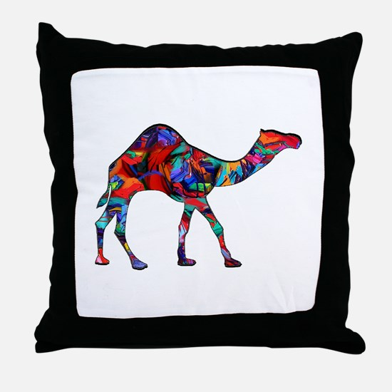 CAMEL VISION Throw Pillow