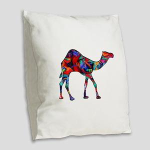 CAMEL VISION Burlap Throw Pillow
