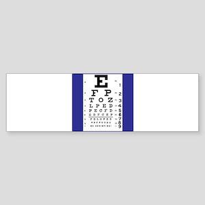 Eye Chart Bumper Sticker