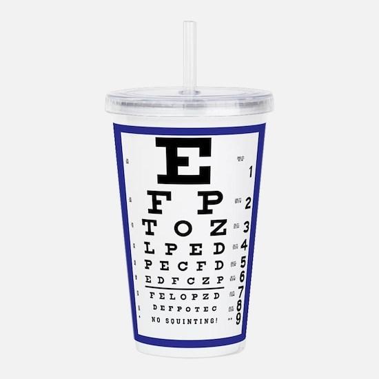 Eye Chart Acrylic Double-wall Tumbler