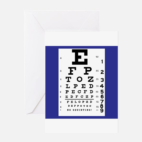 Eye Chart Greeting Cards