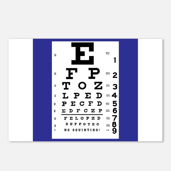 Eye Chart Postcards (Package of 8)